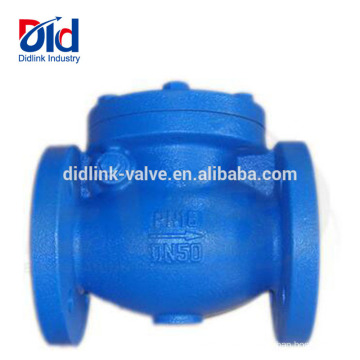 Water Dual Sandwich Double Din Cast Iron Flanged Swing Check Valve Supplier Metal Check Valve