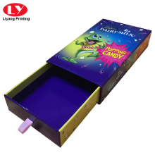 High quality gift Candy box printing with ribbon tab