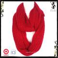 Bufanda de punto de colores de alta calidad de tejido de punto de invierno rojo suave
