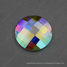 Pedras redondas do vidro da parte traseira lisa de 30mm 40mm para a decoração da joia