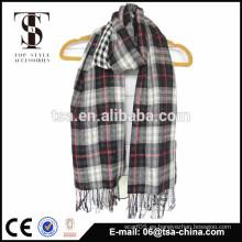 Lencería de seda super suave de importación de moda y algodón bufanda pequeña raya