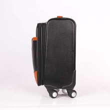 2018 Customized Design Classic PU Trolley Luggage Bag