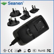 Adaptador AC de 7,5 watts com plugues AC Interchangeble para dispositivos móveis, Set-Top-Box, Impressora, ADSL, Áudio e Vídeo ou Eletrodomésticos
