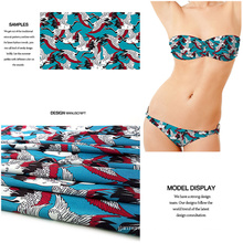 Digital Printed Polyester Spandex Fabric for Swimwear/ Jersey Garment