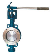 Metallic elastic hard sealing butterfly valve