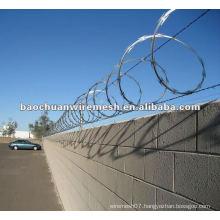 Anti-corrosion CBT-65 galvanized Scraper type razor barbed wire for protection in store(supplier)