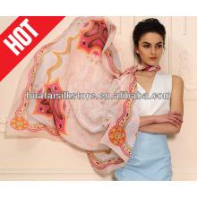 2013 nouveau châle de mode propre en soie avec une bonne qualité par sérigraphie