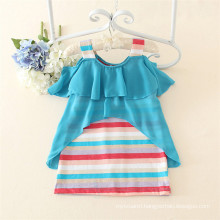 Stirp printing cheap china wholesale clothing fat girls infant clothes from China summer casual kids clothes 2015