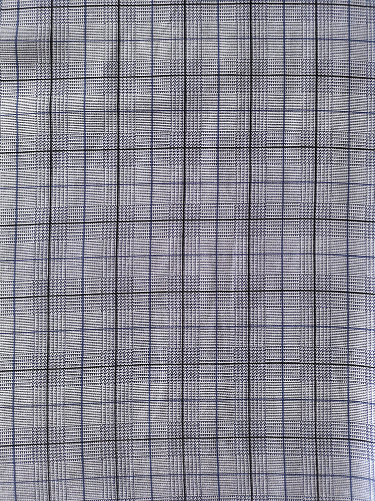 Check Design Rayon Twill 3024S Printing Woven Fabric