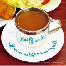 Ceramic Saucer Magic Reflective Coffee Mugs