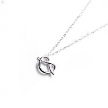 Benutzerdefinierte Geschenk Muttertag Souvenir S925 Sterling Silber Krawatte Die Knoten Halskette
