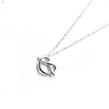 Presente personalizado Dia das Mães Lembrança S925 Sterling Silver Tie O Nó Colar