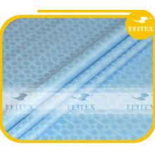 Dernière Conception Bazin Riche Guinée Brocade Bleu Ciel Damas Shadda Vêtement Africain Coton Partie Tissu
