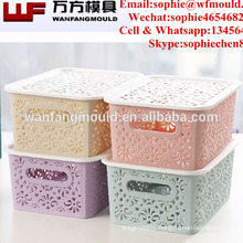 OEM Custom fruit storage box Mould in taizhou injection molding companies production plastic crate box mold