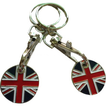 Bespoken Metal Trolley Coin Keychain Small Order Acceptable