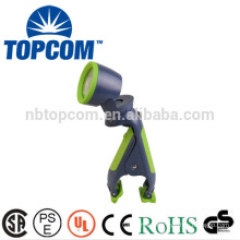 Promotional Work Type Power led plastic torch light with clip