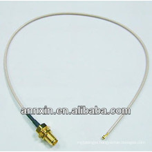 IPX / u.fl to RP-SMA female bulkhead with O-ring RG178 15cm rf coaxial connectors cable assembly jumper cable