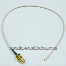 IPX / u.fl para RP-SMA antepara fêmea com O-ring RG178 15 cm rf conectores coaxiais conjunto de cabos cabo de ligação em ponte