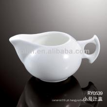 Saudável, durável, branca, porcelana, forno, seguro, suco, pote