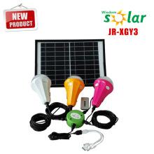 2015 nuevo productos 12w solar panel led luz casera solar kit solar para casa