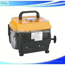 Cilindro único refrigerado a frio com estilo mais recente, com 2 cilindros de arranque, arranque eléctrico, gerador de gasolina portátil de 500 W