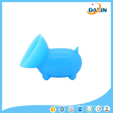 2 PCS Free Shipping Cute Pig Shaped Silicone Cell Phone Holder ((Random color)