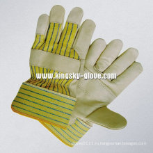 Корова зерно патч Palm рабочих перчаток (3103)
