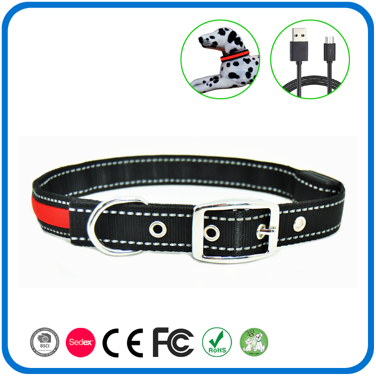 Led Glow Night Safety Reflective Dog Collar