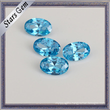 High Quality Aqua Blue 8*6 Oval CZ Stone for Jewelry