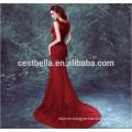 Vestido de noche de seda roja de la manera larga de las mangas largas elegantes de Chic