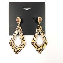 Fashion  leopard printed earring metal vintage gold  earings crystal earrings women