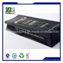 250g 500g 1kg 2kg Aluminum Foil Matte Black Side Gusset Coffee Plastic Pouch Bag