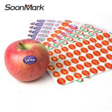 Индивидуальная пищевая упаковка клейкая наклейка фруктовая этикетка