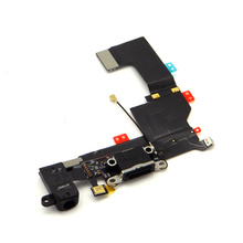 Repair Parts for iPhone 5s Black Charger Port USB Flex Cable