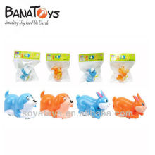 ABS dog and rabbit style wind up plastic toys