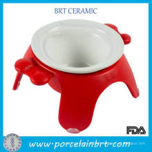 New Prenium Red Stable Pet Bowl with 3 Legs