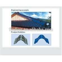 cumbrera de techo de metal hecho en azulejo de china/canto de la tapa en el azulejo de azotea de batir