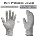 Seamless Level 5 Food Grade Cut Resistant Safety Gloves With PU Palm Coated