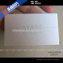 Luxus Seidenschirm Prägung recycelt Visitenkarte Drucker