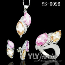 Latest Design Colored Zircon Stone Jewelry Sets (YS-0096)