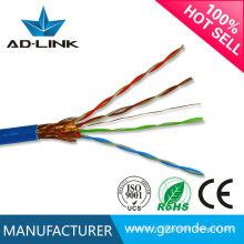 0,5 mm en cuivre intérieur PE / PVC CAT5E double câble blindé à paire torsadée cable lan