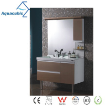 Classic Wood Mirrored Bathroom Cabinet (AME097)