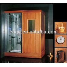 sala de sauna com banho de vapor