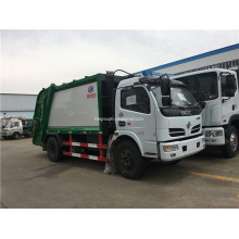 5 cubic compressed garbage collector truck