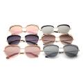 2018 venden al por mayor las últimas nuevas gafas de sol de encargo de la pendiente de la moda del vintage del logotipo