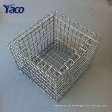 cage en pierre de gabion galvanisée, boîte de gabion de gabion de ferme de décor