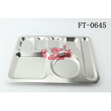 Stainless Steel Fast Food Tray (FT-0645)