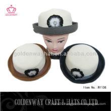 lady fashion hat paper straw top hat