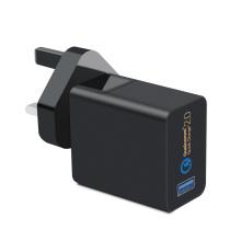 Adaptador de corriente alterna de 18W Cargador USB para dispositivos móviles
