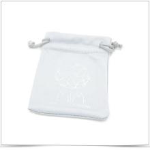 Bolsa de la joyería de Microfiber del lazo del Doble-Lado